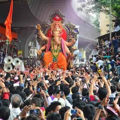 "Visarjan Photo of Lalbaug Ganesh Galli ""Mumbaicha Raja"""