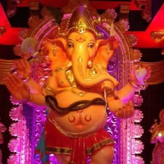 "Beautiful ""Ladka Lambodar"" Ganesh of Rangari Badak Chawl"