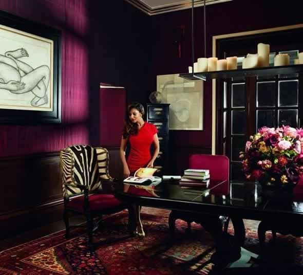 """Shahrukh Khan's Dining Room in his Mumbai home, """"Mannat"""""""