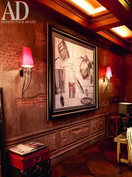 Photo of the drawing room, inside Shahrukh Khan's Mumbai House.