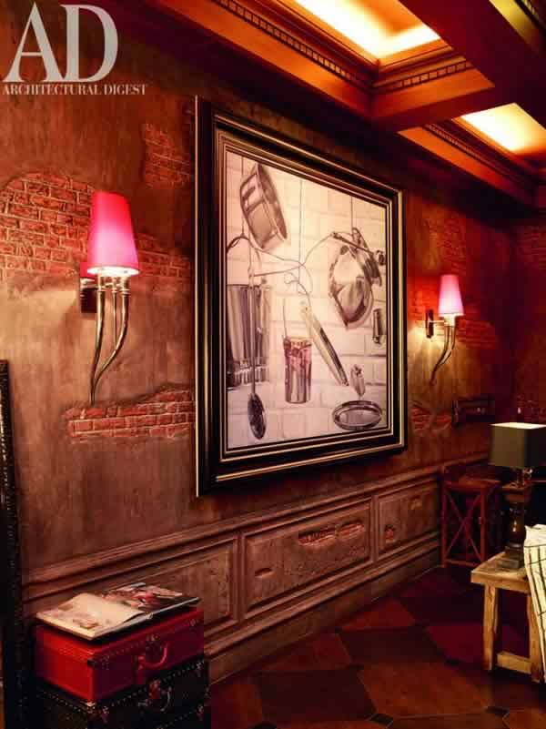 Photo of the drawing room, inside Shahrukh Khan's Mumbai Home.