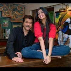 Anil Kapoor and Sonam at Home with their Artwork