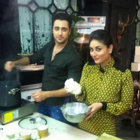 Film Star Imran Khan with Kareena Kapoor at His House