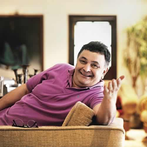 "Picture of Rishi Kapoor in his Bungalow ""Krishna Raj"""