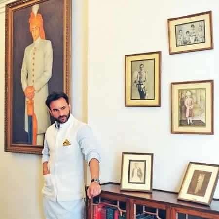 Nawab of Pataudi, Saif Ali Khan, at Pataudi Palace
