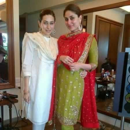 Kareena Kapoor at Her Home, with Her Sister, Karishma