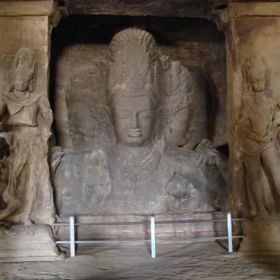 Shiva Trimurti is the main idol at Mumbai's Elephanta Caves