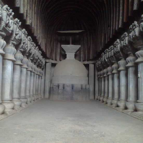 Karla, Bhaja and Bedse are Buddhist Caves near Lonavala-Khandala