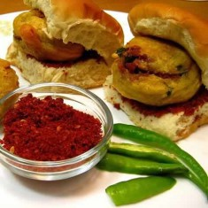 Vada Pav is a Popular Snack And Street Food From Mumbai