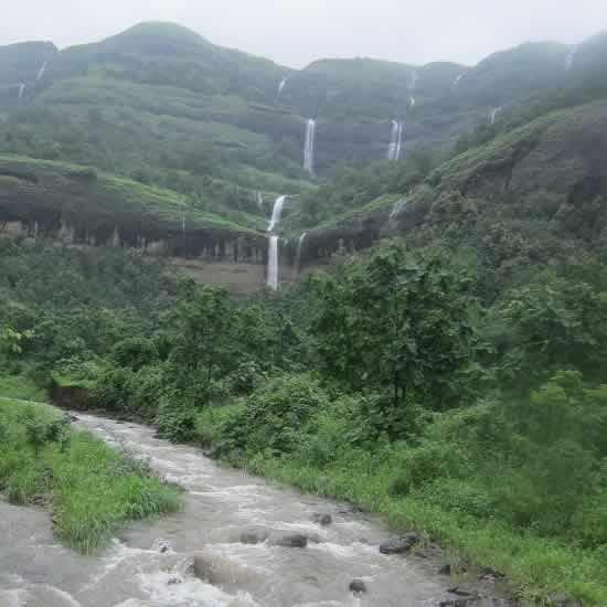 Zenith Fall At Khopoli Is A Famous Waterfall Near Mumbai, Pune
