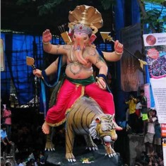 Kamatipura Cha Chintamani is a famous Ganesh from Mumbai