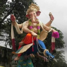 Khetwadi Lane 7 has a Beautiful Ganpati Idol in 2015