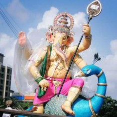 Picture Of The Beautiful 2015 Mira-BhayanderCha Raja Ganpati