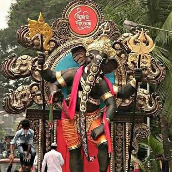 Mumbaicha Maharaja is one of Mumbai's Best Ganesh Idol