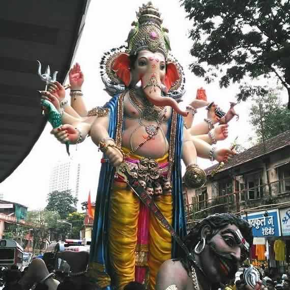 Image of the 2015 Parelcha Raja Ganesha at Nare Park