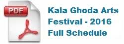 Kala Ghoda Festival 2016 Schedule, Venues, Events, Dates
