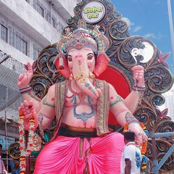 Dongri Cha Raja Ganpati Idol at Ganesh Chaturthi 2016