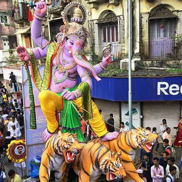 Krunal Patil made the 2016 Mumbadevi Cha Ganraj Ganpati