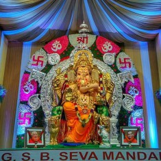GSB Seva Mandal is Mumbai's famous Eco-friendly Ganpati