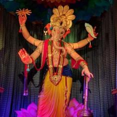 Famous Mumbai Cha Raja Ganpati at Ganesh Gali, Lalbaug