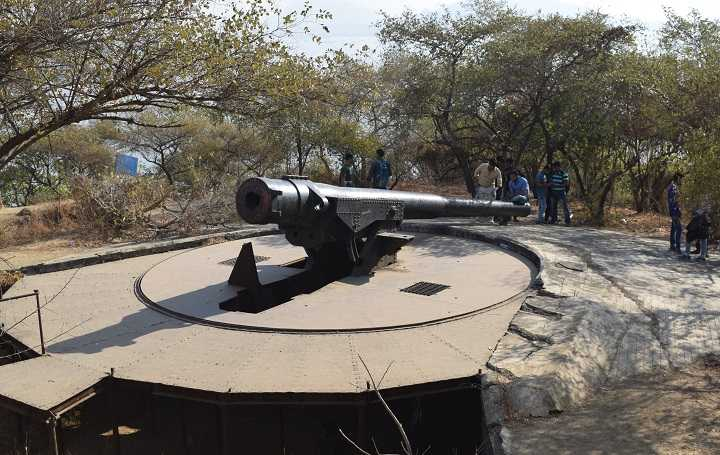 Photo of Cannon on Cannon Hill, Elephanta Island
